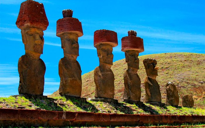 Статуи Моаи на острове Пасхи. / Фото: www.rthvictoria.com