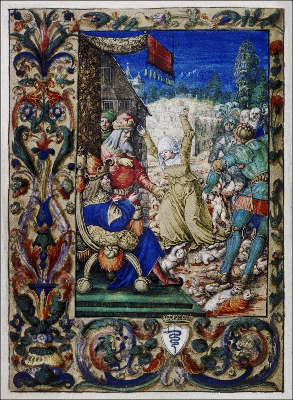 Часослов королевы Боны, 1528.